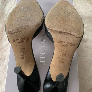 Jimmy Choo Shoes - Jimmy Choo pointed toe sandals size 37.5 black